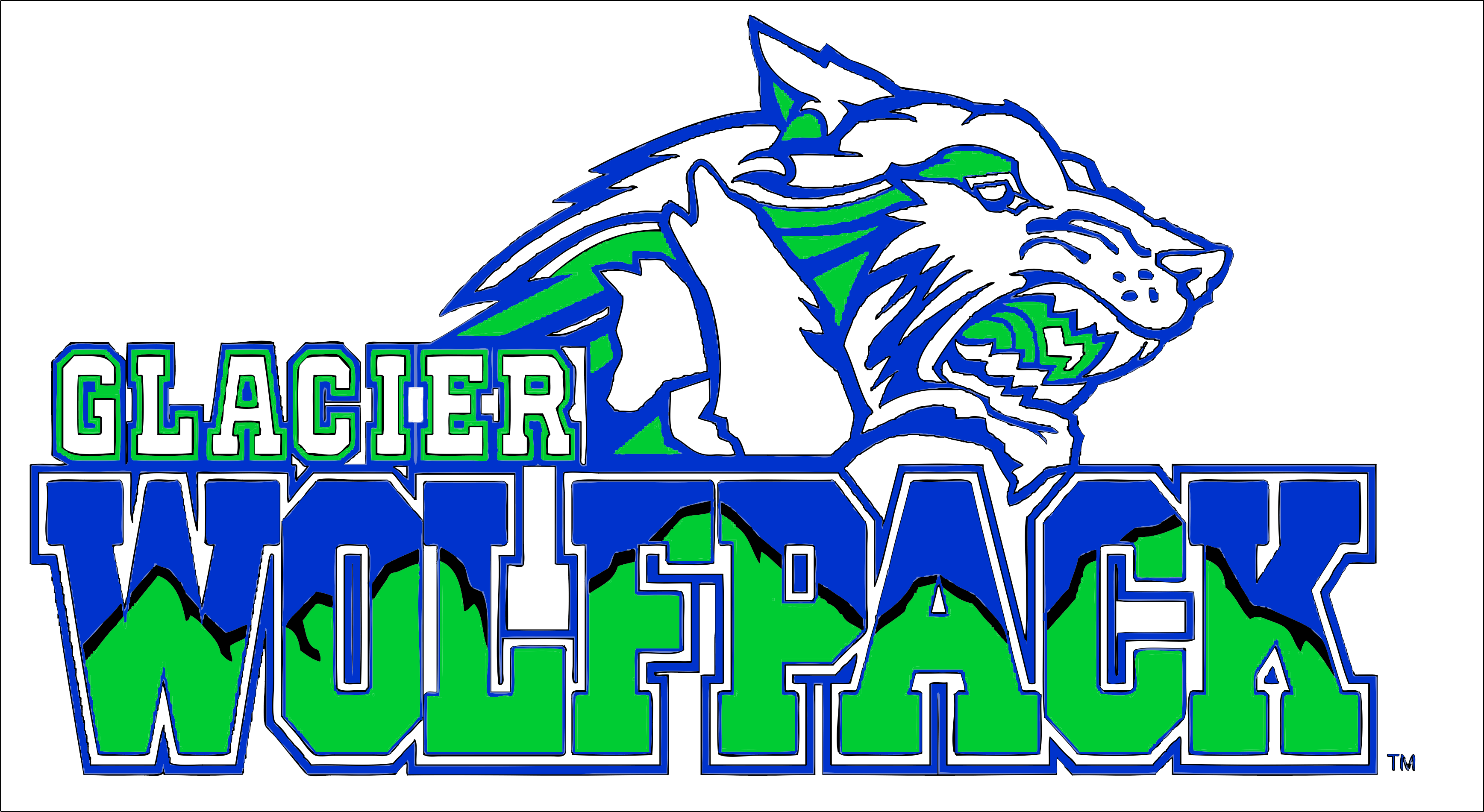 Glacier High School logo